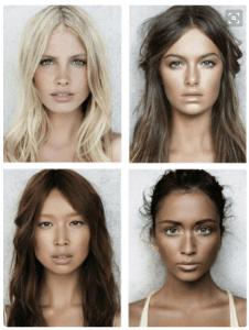 Face shots of beautiful women
