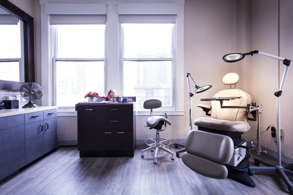 Sunlit treatment room at Mabrie Facial Institute