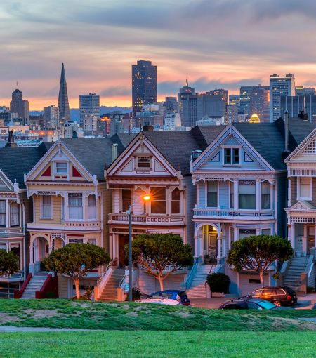 San Francisco's painted ladies (Victorian houses)