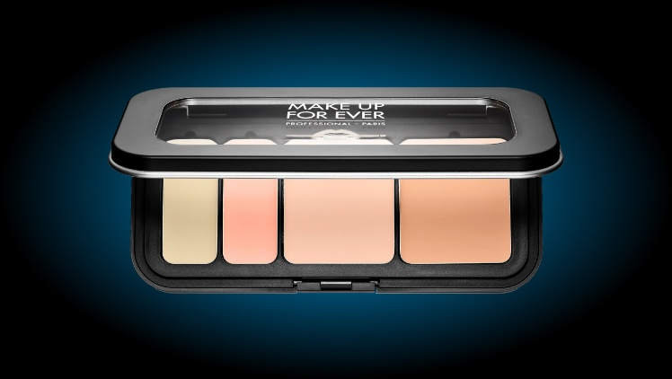 color correcting makeup palette for concealing bruises